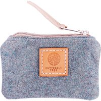 Butterfly Tree Wool Coin Purse, Teal