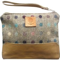 Butterfly Tree Spot Wrist Bag With Leather Strap