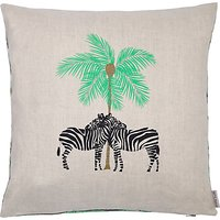 Fenella Smith Zebra and Palm Tree Cushion