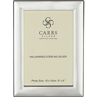 Carrs Berkeley Plain Frame, 6 x 4, Sterling Silver