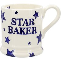 Emma Bridgewater Starry Skies Star Baker Half Pint Mug, Blue/White, 284ml