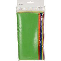 John Lewis Bright Craft Felt, Pack of 10, Multi