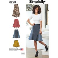 Simplicity Womens Skirt Sewing Pattern, 8220