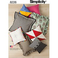 Simplicity Home Decoration Cushion Sewing Pattern, 8226