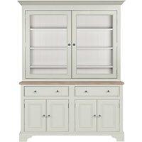 Neptune Chichester 5ft Glazed Rack Dresser, Shingle
