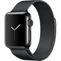 Apple Watch Series 2, 38mm Space Black Stainless Steel Case with Milanese Loop, Space Black