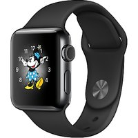 Apple Watch Series 2, 38mm Space Black Stainless Steel Case with Sport Band, Black
