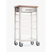 Don Hierro Onda Butcher's Trolley, Ivory White / Beech