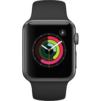 apple watch series 1, 38mm space grey aluminium case with sport band, black