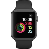 apple watch series 1, 42mm space grey aluminium case with sport band, black