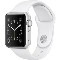 apple watch series 1, 38mm silver aluminium case with sport band, white
