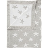 John Lewis Baby Star Knit Blanket, 75 x 100cm, Grey