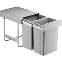 Wesco Large Capacity Recycling Kitchen Bin, 2 x 26L