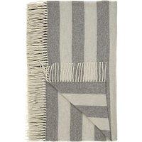 John Lewis Herringbone Stripe Wool Blend Throw, Grey