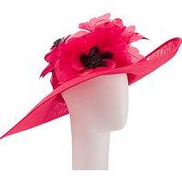 John Lewis Sarah Large Occasion Hat, Poppy Red