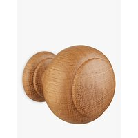 John Lewis and Partners Solid Oak Country Finial, Dia.35mm