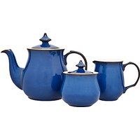 Denby Imperial Blue Tea Set, 3 Pieces