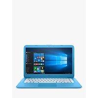 HP Stream 14-ax000na Laptop, Intel Celeron, 4GB RAM, 32GB eMMC, Office 365 with 1TB One Drive 1-Year Subscription, 14, Aqua Blue
