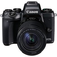 Canon EOS M5 Compact System Camera with EF-M 18-150mm IS STM lens, HD 1080p, 24.2MP, Wi-Fi, Bluetooth, NFC, 3.2 LCD Tiltable Touch Screen