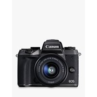 Canon EOS M5 Compact System Camera with EF-M 15-45mm IS STM lens, HD 1080p, 24.2MP, Wi-Fi, Bluetooth, NFC, 3.2 LCD Tiltable Touch Screen with Lens Mount Adapter
