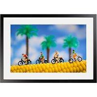 David Gilliver - Cobbled Road Framed Print, 70 x 50cm