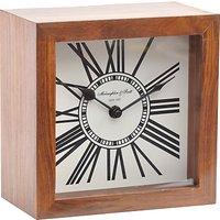 Libra Wood Mini Mortimer Clock, Brown