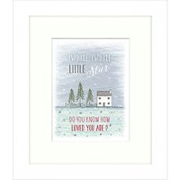 East Of India - Twinkle Twinkle Framed Print, 23 x 27cm