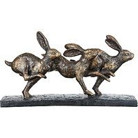 Libra Trio Of Hares Running Sculpture
