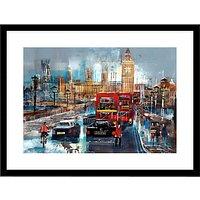 Nagib Karsan - Traffic In Westminster Framed Print, 85 x 65cm