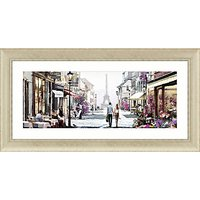 Richard Macneil - Paris Cafe Framed Print,112 x 57cm