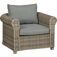 Royalcraft Windsor Chunky Garden Armchair, Grey