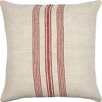 John Lewis Whitby Stripe Cushion, Red