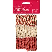 Docrafts Twine, Pack of 3, Red/Natural