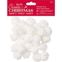 Docrafts Thread Your Own Pom Poms, Pack of 30