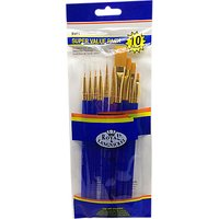 Royal & Langnickel Gold Taklon Paint Brush Set, Pack of 10