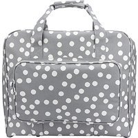 John Lewis Spot Print Sewing Machine Bag, Grey