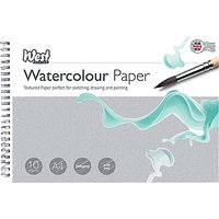 West Designs A4 Watercolour Paper Sheets, Pack of 10