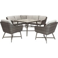 KETTLER LaMode Garden Lounging Corner Table and Chairs Set, Grey