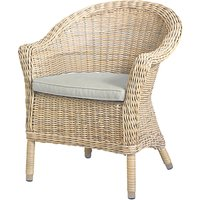 4 Seasons Outdoor Valentine Round Back Garden Dining Chair, Pure