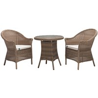 KETTLER RHS Harlow Carr Garden Bistro Table and Chairs Set, Natural