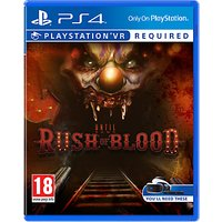 Until Dawn: Rush Of Blood PS VR Game for PS4