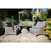 4 Seasons Outdoor Valentine Cosy Living Garden Table & Chairs Set, Low Back Design