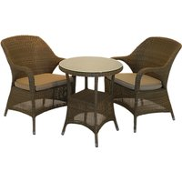 4 Seasons Outdoor Sussex Bistro Set, Taupe