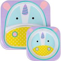 Skip Hop Baby Melamine Unicorn Plate and Bowl Set