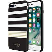 kate spade new york Hybrid Hardshell Case for iPhone 7 Plus, Black/White/Gold