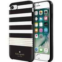 kate spade new york Hybrid Hardshell Case for iPhone 7, Black/White/Gold