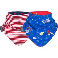 Cheeky Chompers Baby Neckerbib, Chic/Space, Pack of 2