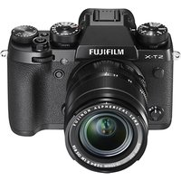 Fujifilm X-T2 Compact System Camera with XF 18-55mm IS Lens, 4K Ultra HD, 24.3MP, Wi-Fi, OLED EVF, 3 Tiltable LCD Screen