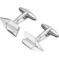 John Lewis & Partners Paper Aeroplane Cufflinks, Silver