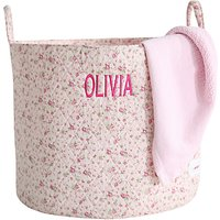 My 1st Years Personalised Ditsy Storage Bag, Pink